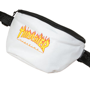 Thrasher : FLAME WAIST BAG (WHITE)
