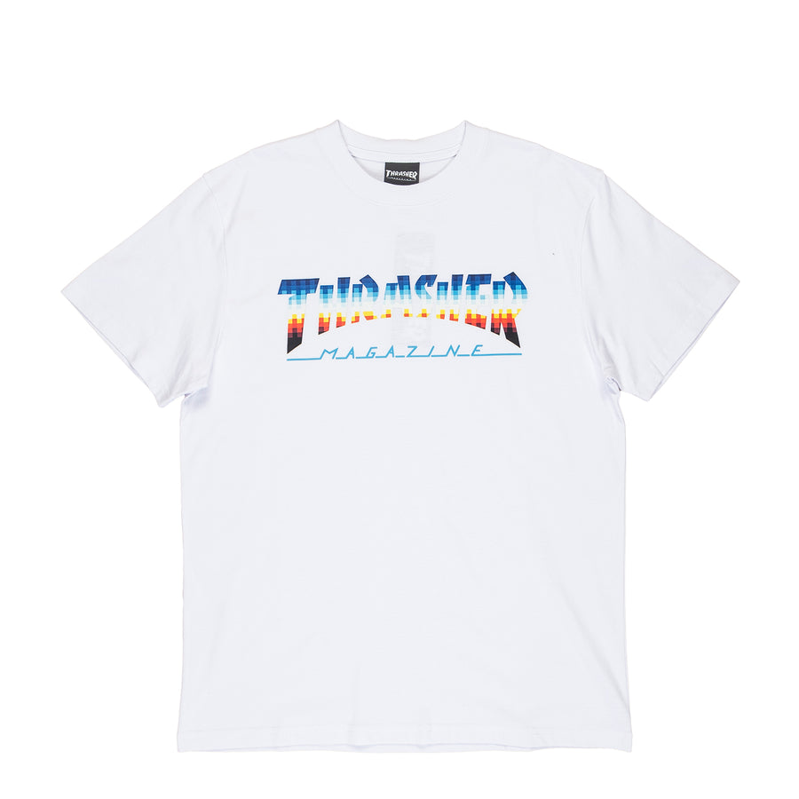 Thrasher : Hometown Glitch S/S T-Shirt (White)