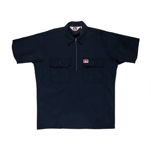Ben Davis: Solid With Pocket Flaps - 1/2 Zipper (Navy)