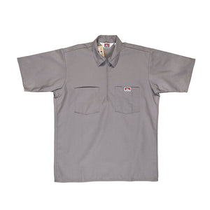 Ben Davis: Solid - 1/2 Zipper (Light Grey)