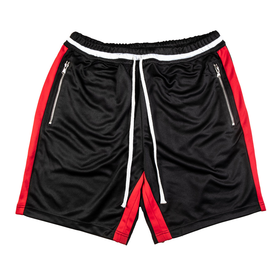 Crysp Denim : Lewis Track Shorts (Black/Red)