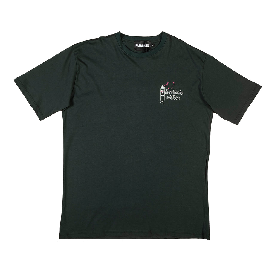 Pas De Mer : Barber T-Shirt (Dark Green)