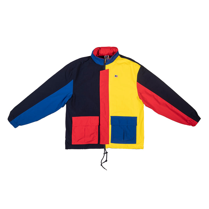 Russell Athletic: Parachute Full Zip Colorblock Jacket (Inca Gold)