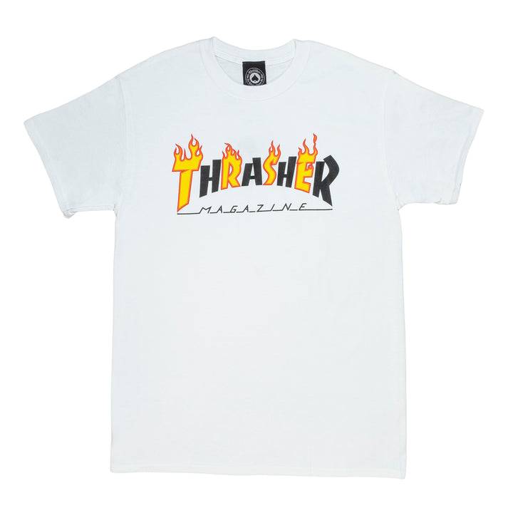 Thrasher : Flame Mag S/S (White)