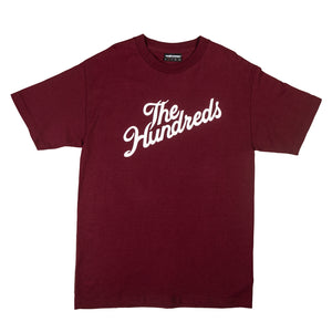 The Hundreds : Forever Slant Logo T-Shirt (Burgundy)