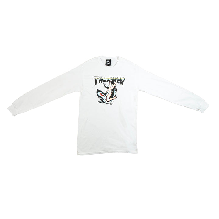 Thrasher : Tattoo L/S (White)