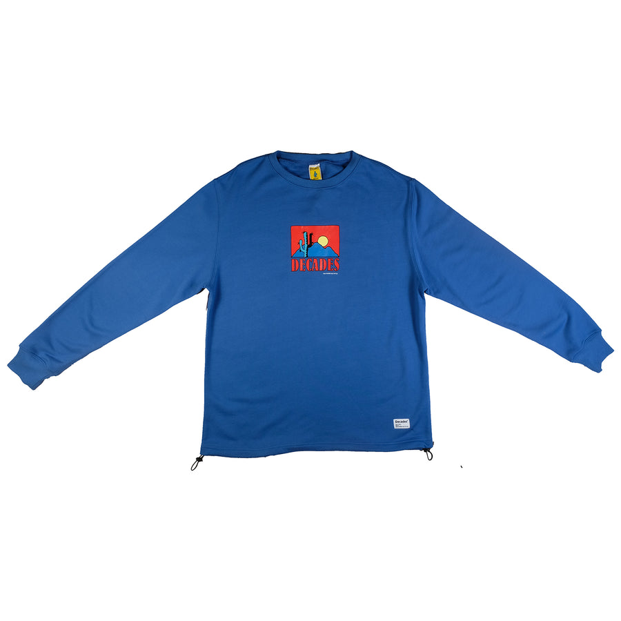 Decades : Sunset Glow Crewneck (Blue)
