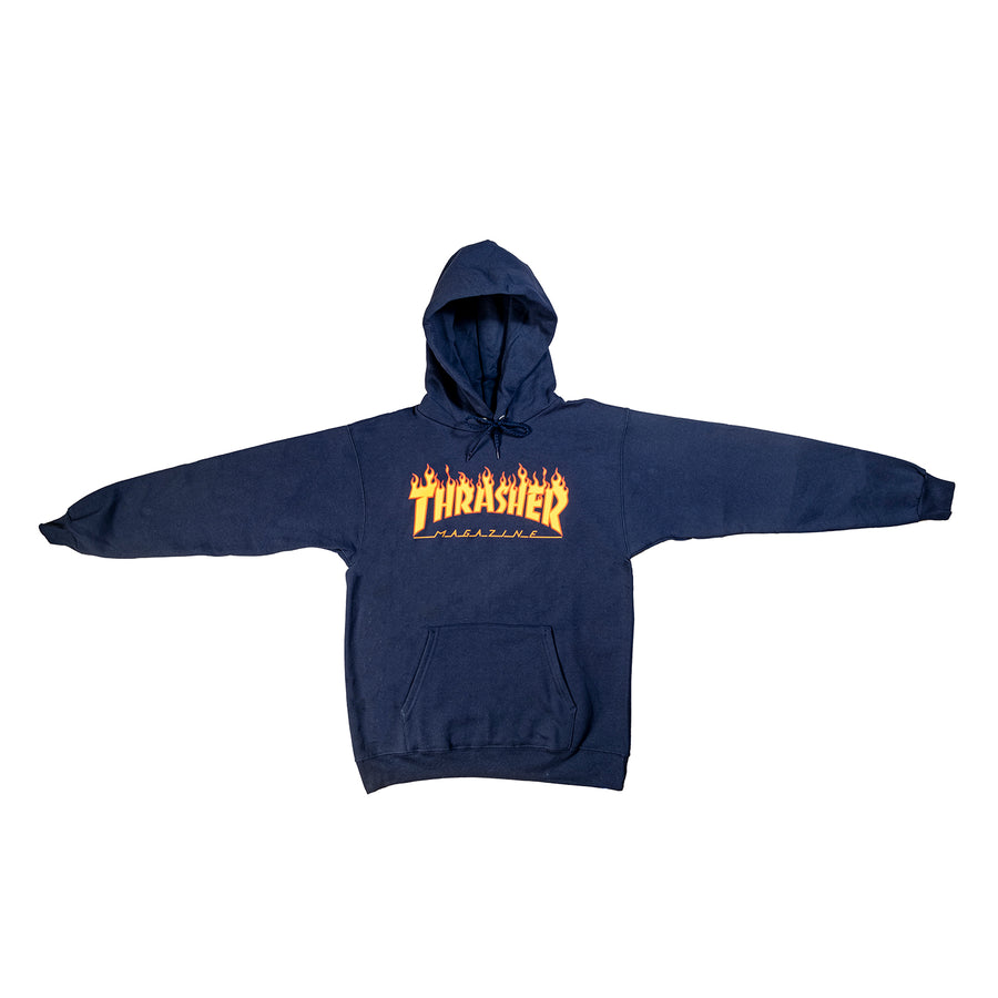 Thrasher : Flame Hood (Navy)