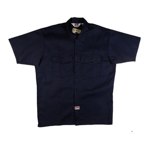 Ben Davis: S/S Solid Button-Up (Navy)