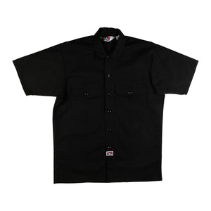 Ben Davis: S/S Solid Button-Up (Black)