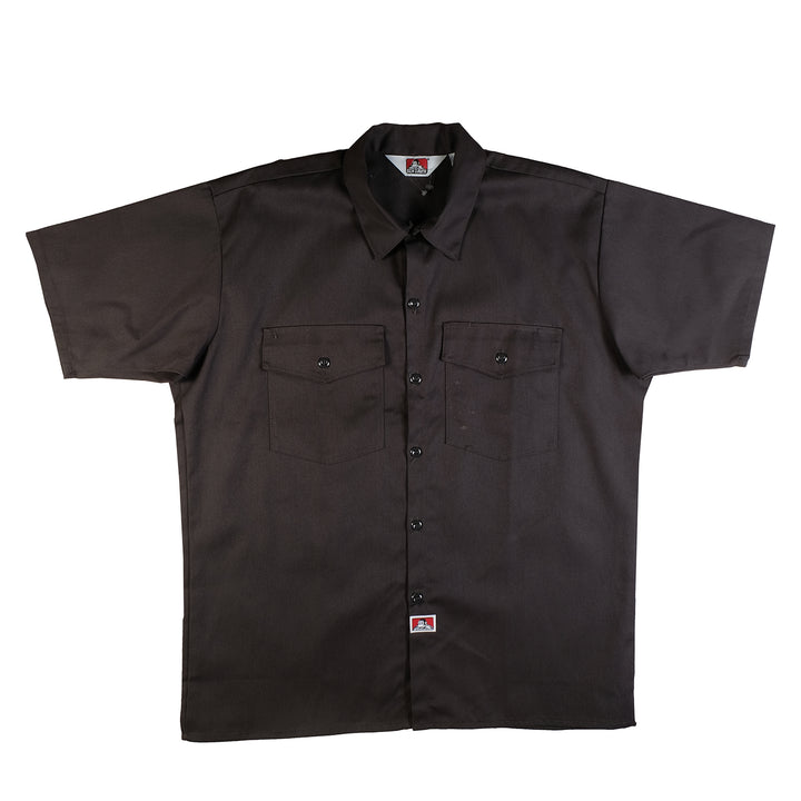 Ben Davis: S/S Solid Button-Up (Charcoal)