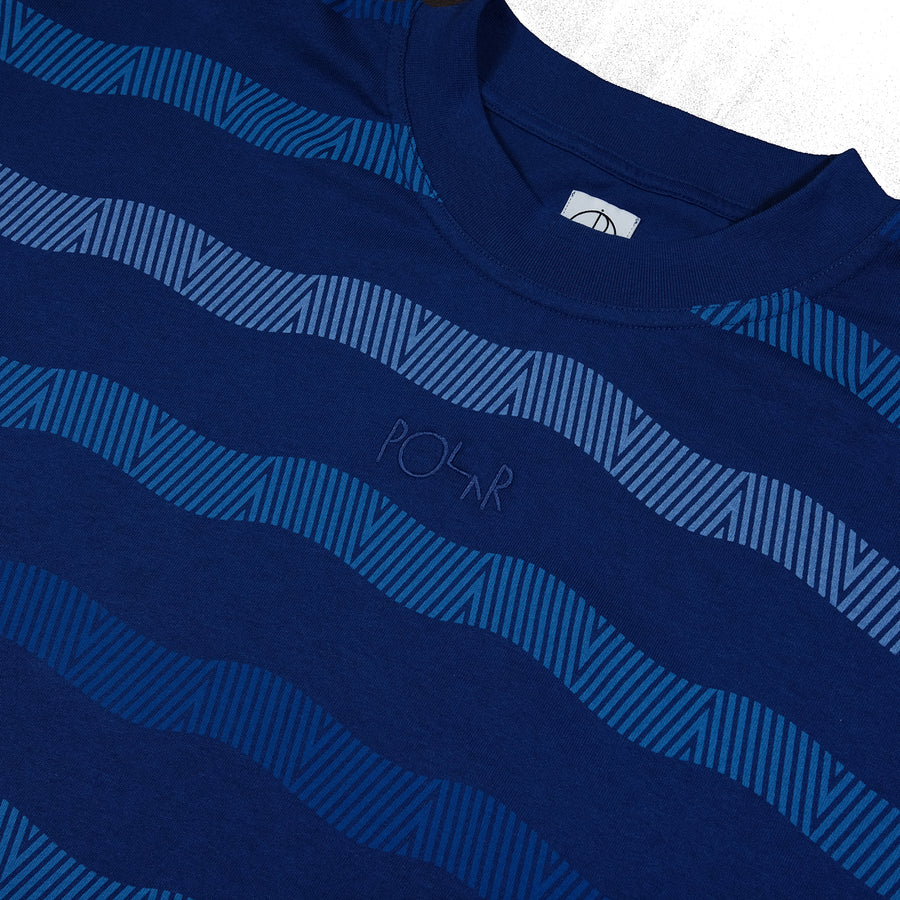Polar Skate: Wavy Surf Tee (Dark Blue)