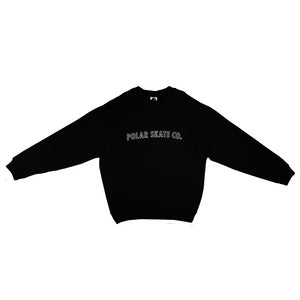 Polar Skate: Outline Crewneck (Black)