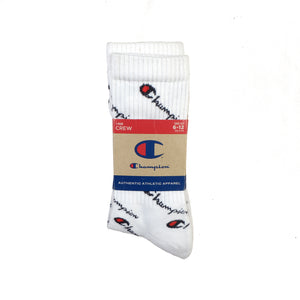 Champion: Life - All Over Print Crew Sock (White)