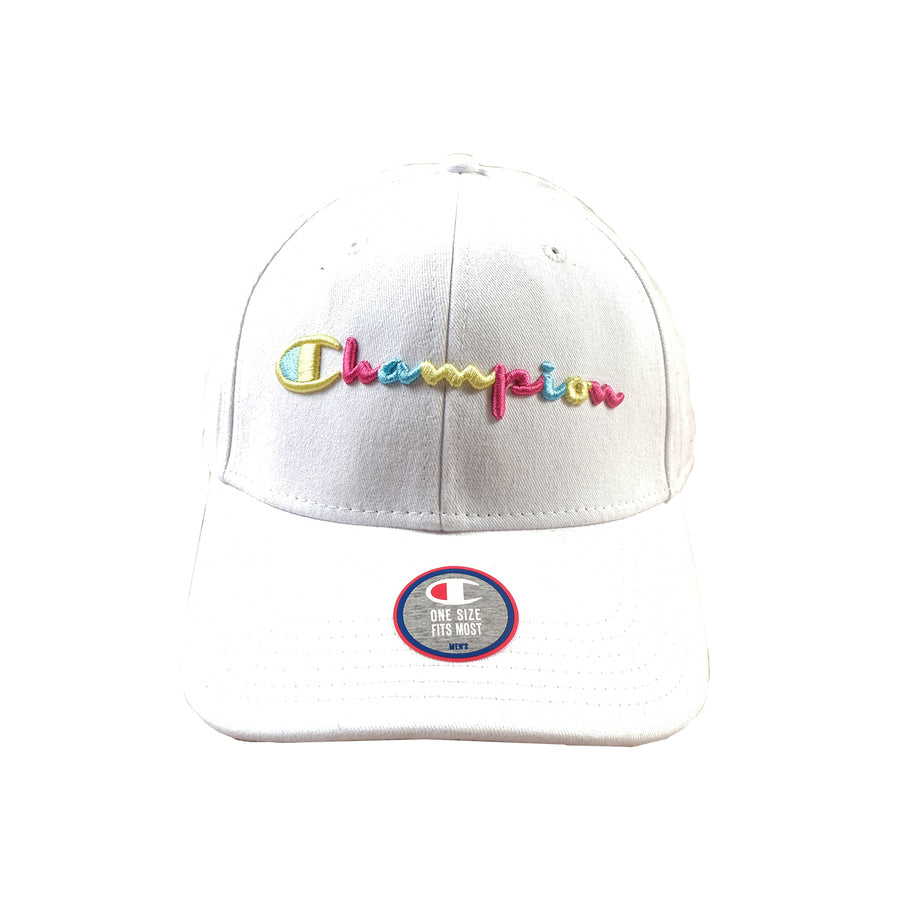 Champion: Classic Twill Hat With Multi (White)