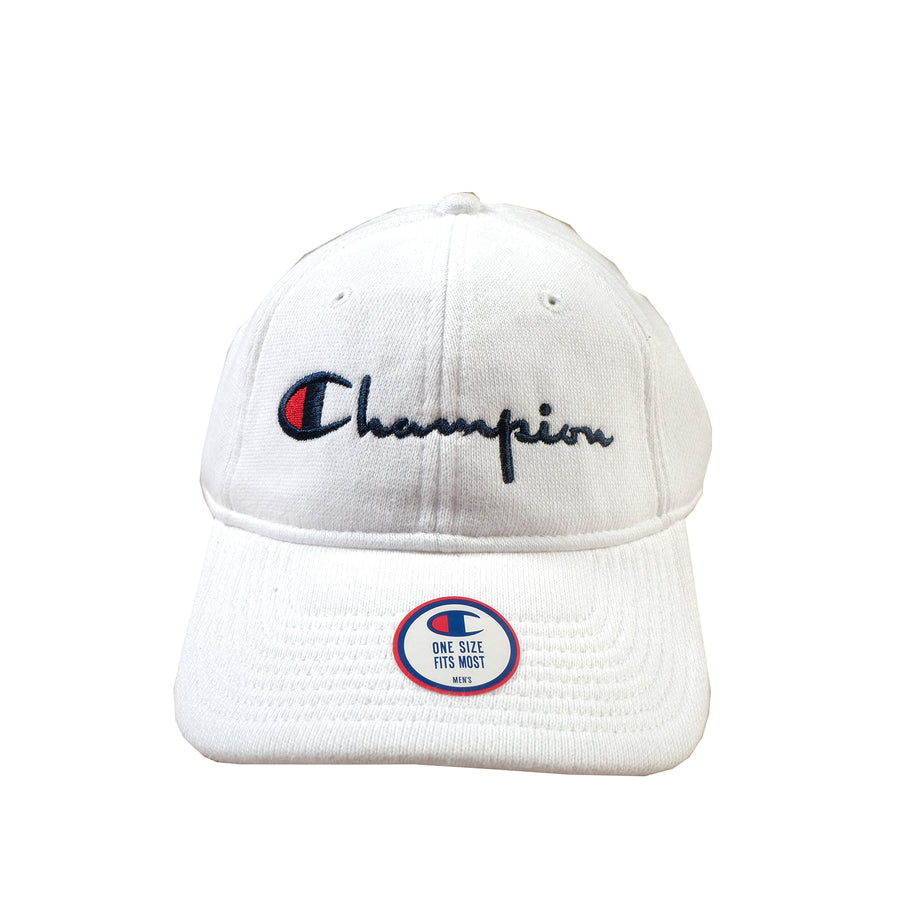 Champion: Reverse Weave Dad Hat (White)
