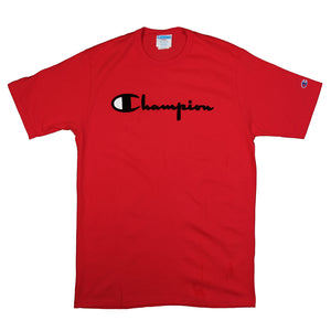 Champion: Heritage Direct Flock Tee (Team Red Scarlet)
