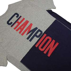 Champion : Heritage Shift Tee (Oxford Grey/Imperial Indigo)