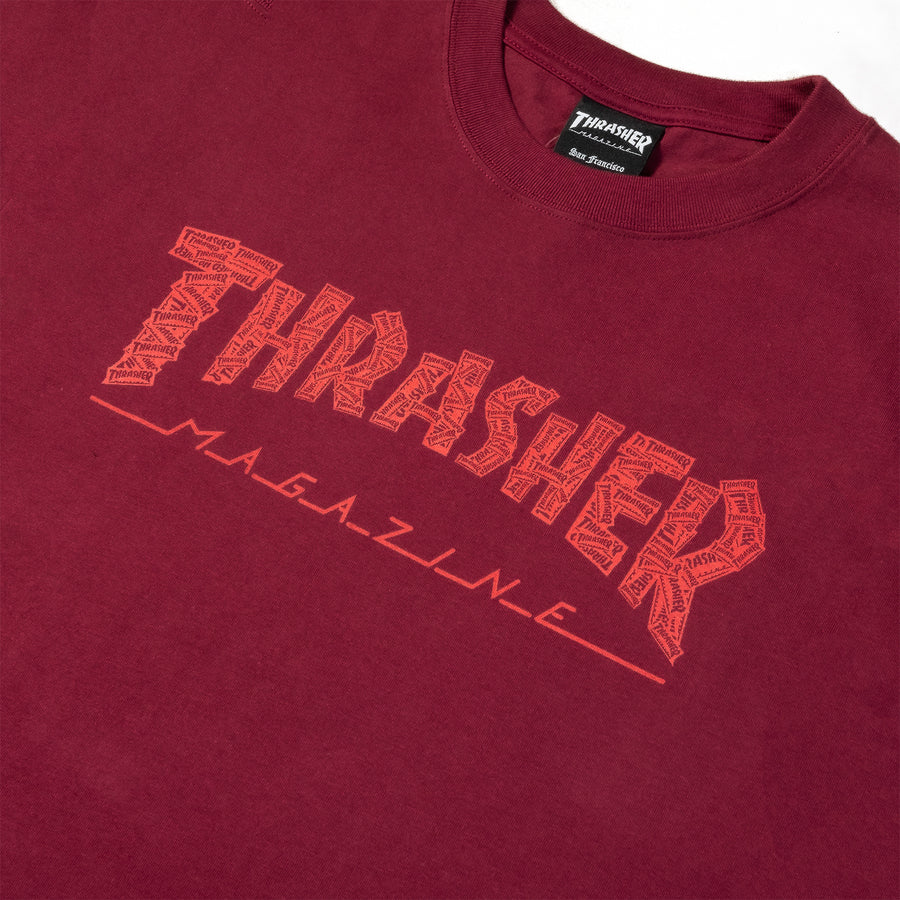 Thrasher : Red Collage Tee (Maroon)