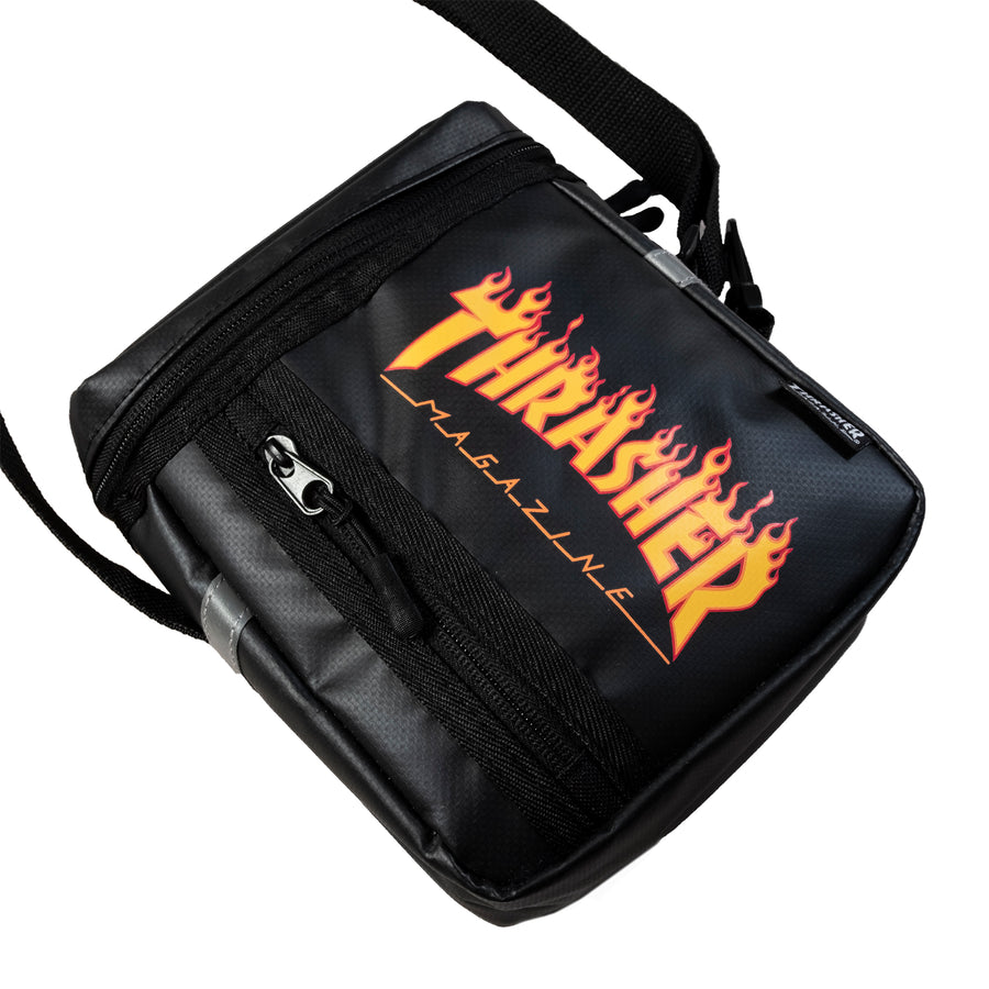 Thrasher : Flame Box Shoulder Bag (Black)
