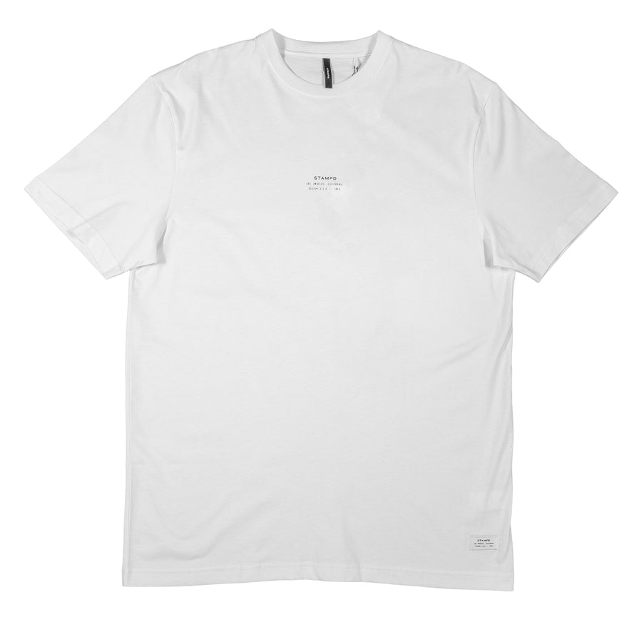 Stampd: Stacked Logo Tee (White)