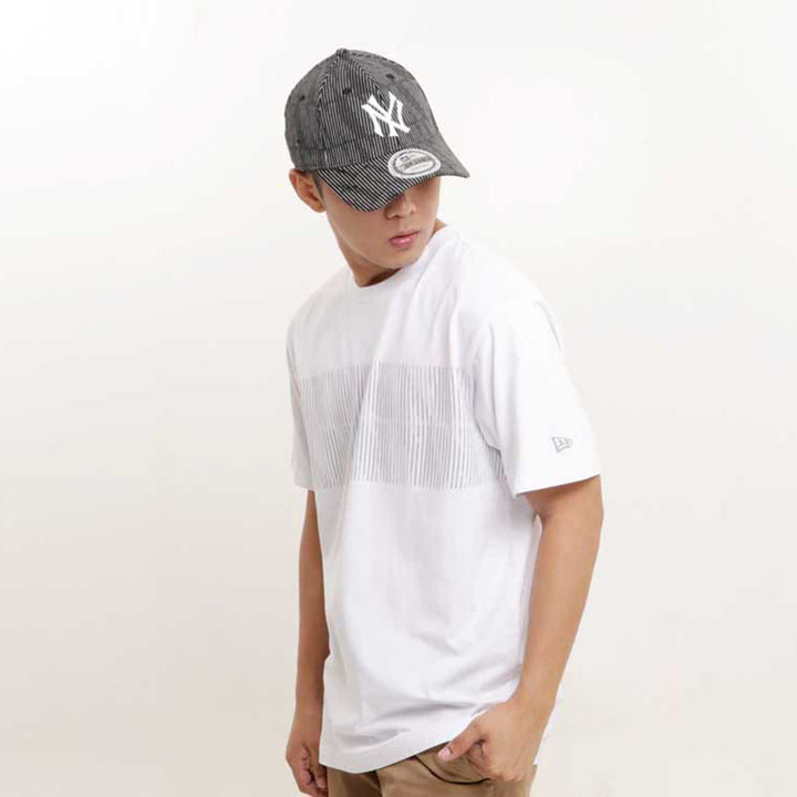 New Era : Short Sleeves Tee Polluted Contrast (White)