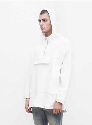 Profound Aesthetics: French Terry Anorak Pullover (White)