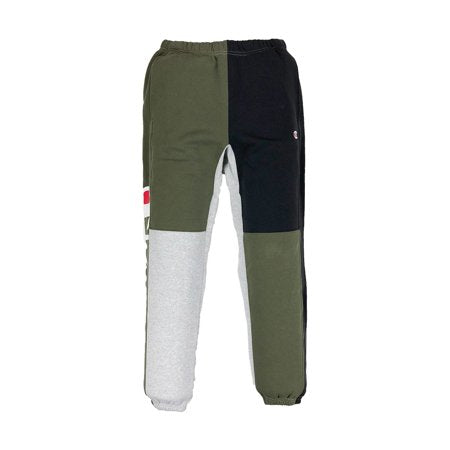 Champion: Reverse Weave Pant Colorblock Pant (Hiker Green/Oxford Gray/Black)