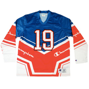 Champion: Hockey Jersey (Surf The Web/Scarlet/White)