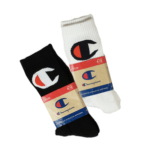 Champion: Life - Big C Crew Sock (Black) & (White)