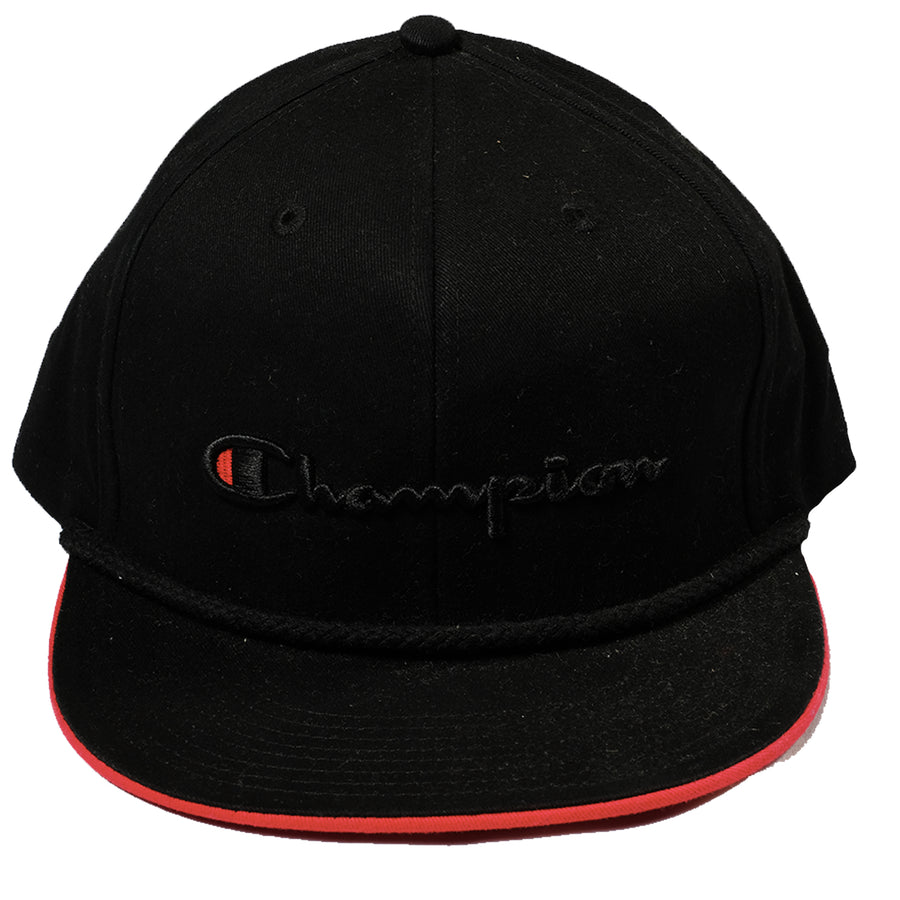 Champion: Snapback Script With Braided Rope (Black)
