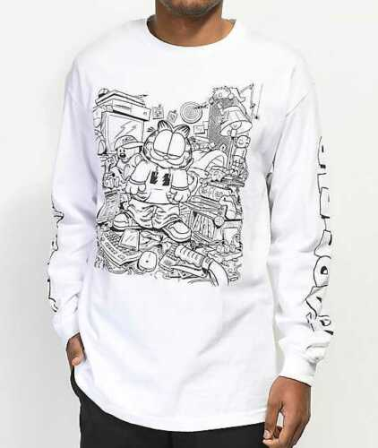 The Hundreds x Garfield: Messy Garfield Long Sleeve T-shirt (White)