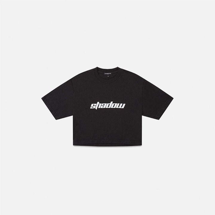 Shadow Hill : Shadow Crop T-Shirt (Black)