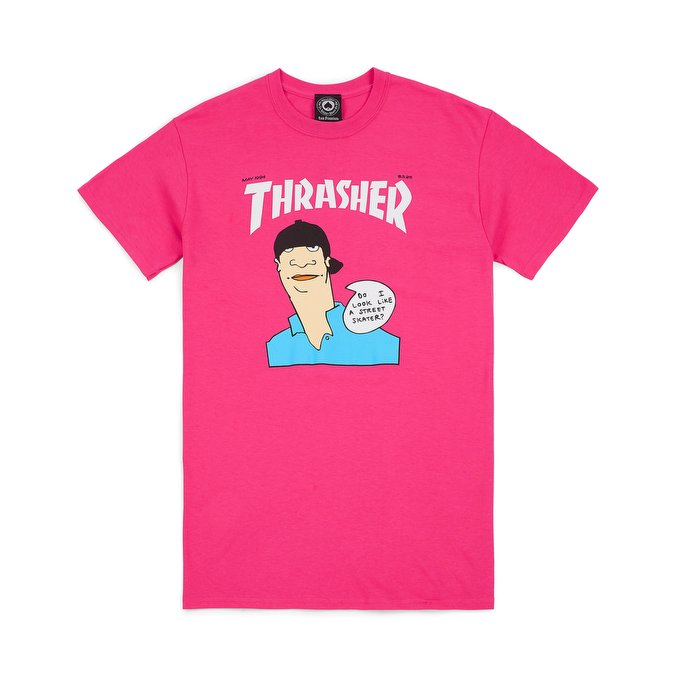 THRASHER-TOP : GONZ COVER S/S (PINK)