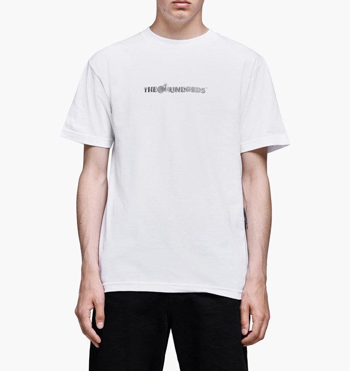 The Hundreds: Bar Logo Embroidery T-shirt (White)