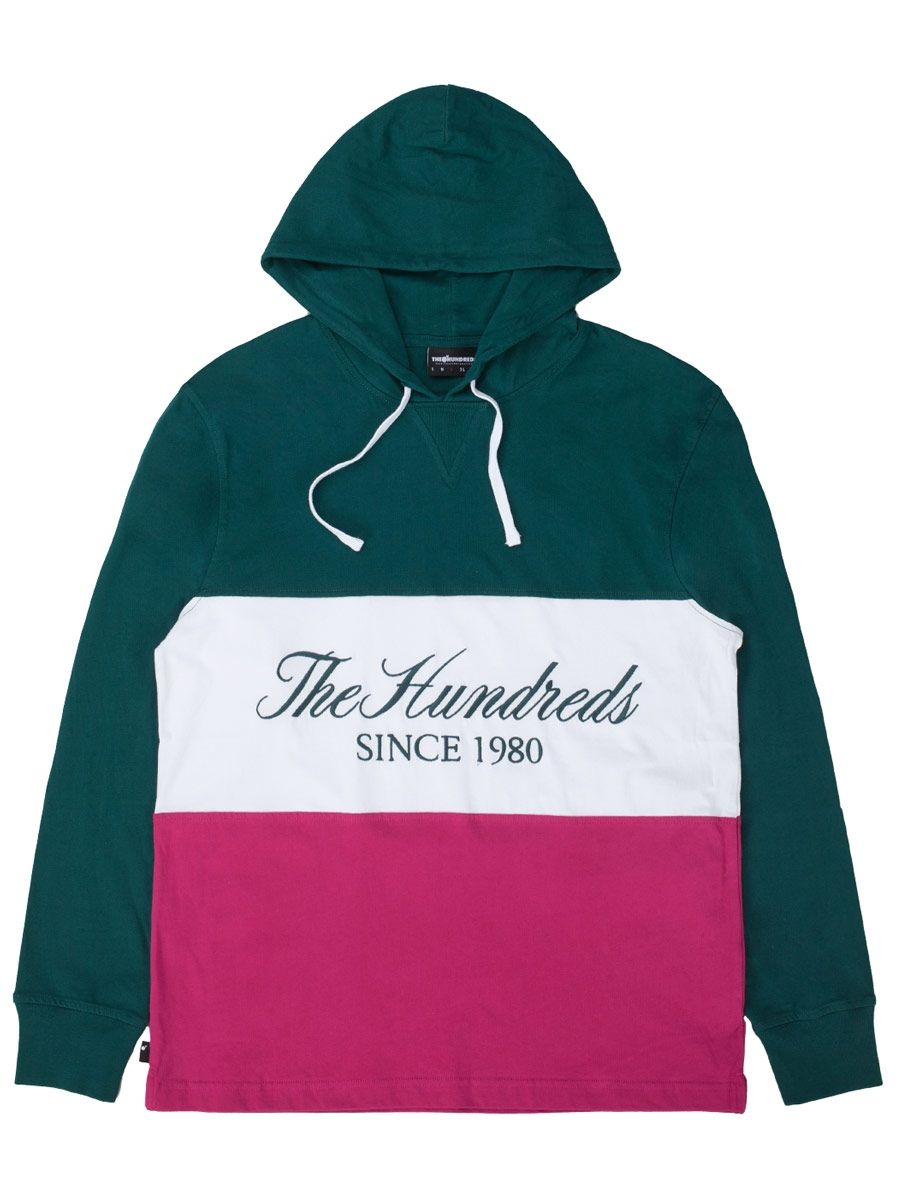 The Hundreds : Ellie Hooded LS T-Shirt (Deep Teal)
