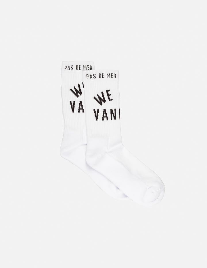 Pas De Mer : We Are Vand Socks (White)
