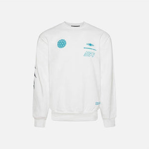 Shadow Hill : Coral Crewneck (White)
