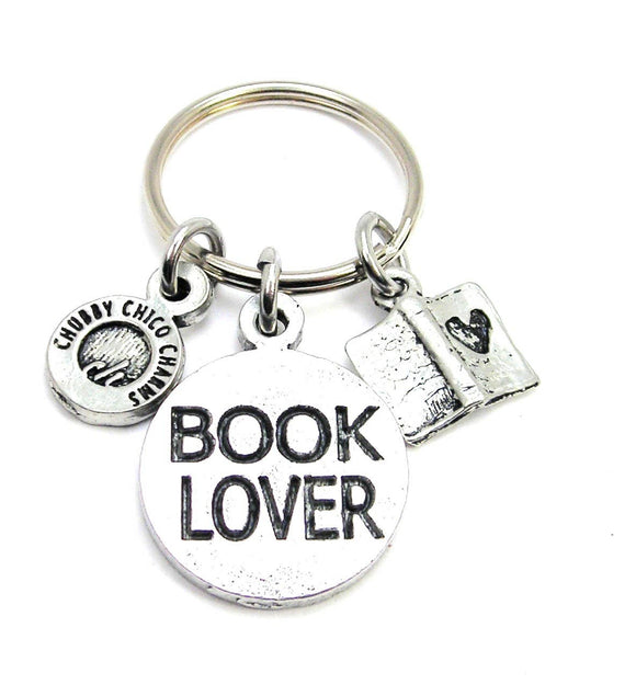Book Lover Key Chain,  Book Store Lover Gift, Book Gift