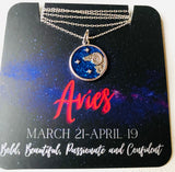 Zodiac Necklaces, Silver Zodiac Necklaces, Carded Necklaces, Zodiac