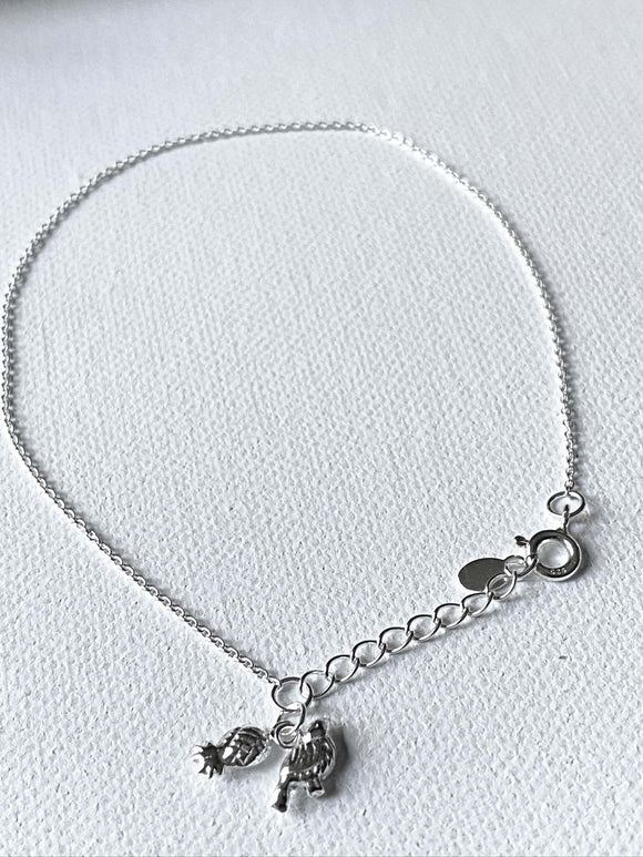 Tropical Charm Anklet/Sterling Silver Anklet