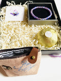 Holiday Gift box/ Gift Box-Purple and Gold