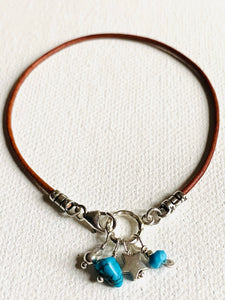 Turquoise and Star Charm Bracelet/ Wish Bracelet