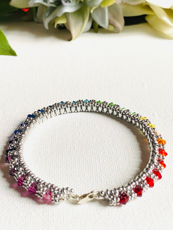 Swarovski Crystals Woven Bangle
