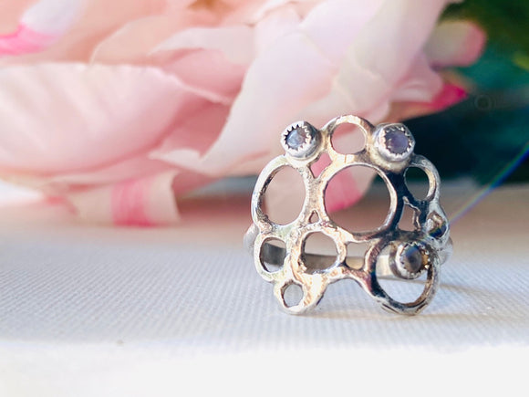 Moonstone Bubble Ring