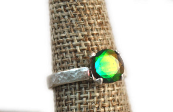Rainbow Quartz Doublet/ Mystical Quartz Ring/ Mystical Jewelry