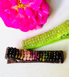 One Tiny Genuine Gemstone Barrettes