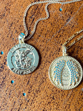 St. Michael Medallion Necklace- Gold Filled Necklace