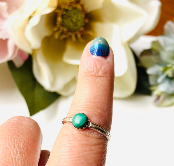 Malachite Stacking Ring Size 10