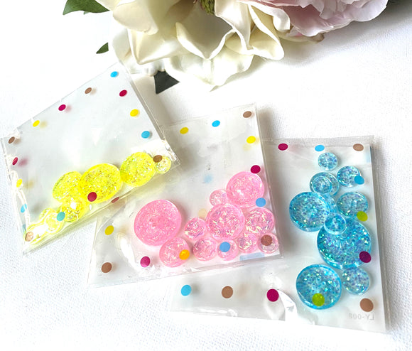 Buttons/Resin Buttons/Glitter Buttons, Sewing Buttons, Handmade Glitter Resin Buttons